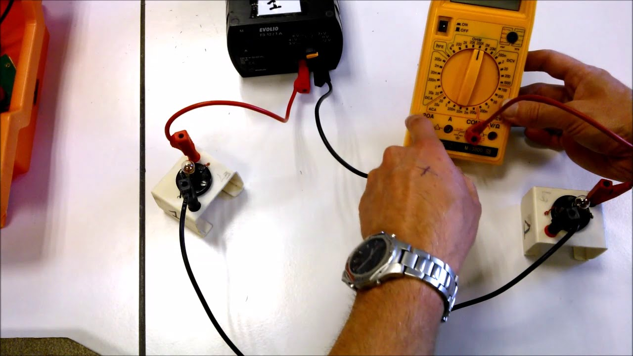 brancher amperemetre